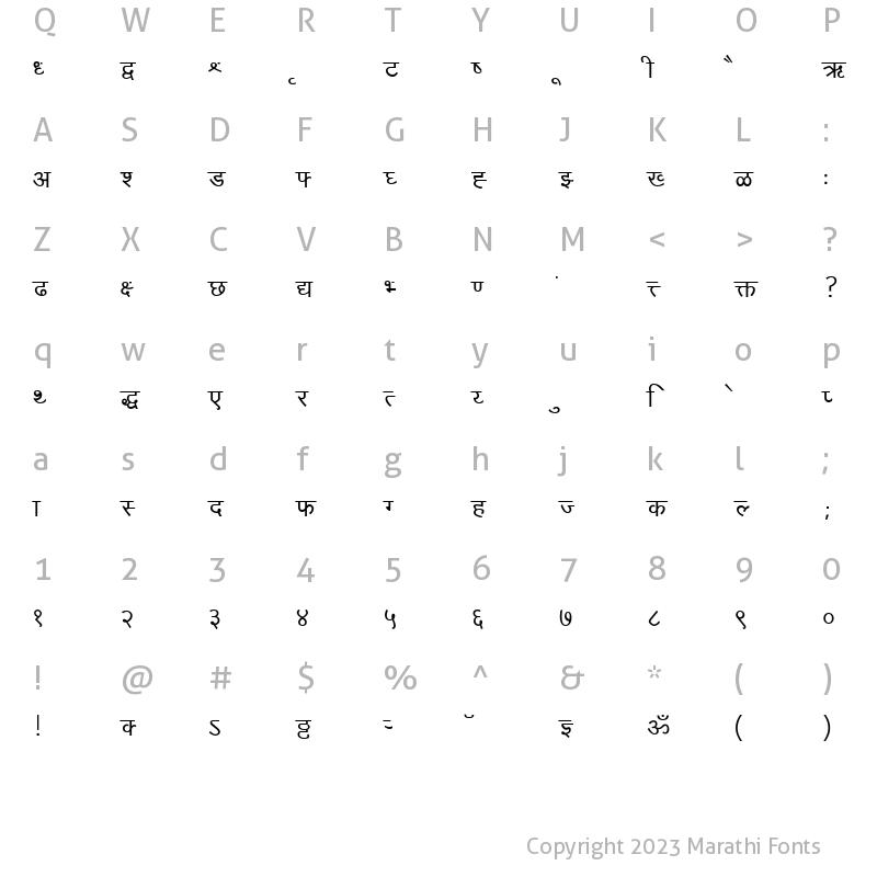 Marathi fonts download free